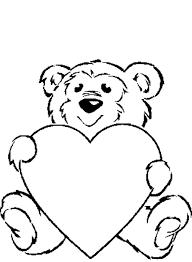 Disegni Di San Valentino Per Bambini Orsetto Con I Cuori Disegni