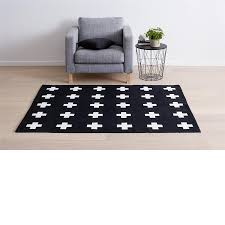 cross print rug black white kmart interior circle rugs mississauga furniture packages brisbane mustard ikea target