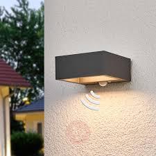 Solar Powered Outdoor Lights Uk Solar Powered Led Outdoor Wall Light Mahra Sensor