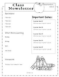 Teachers Newsletter Templates Classroom Newsletter Template Word Arttion Co