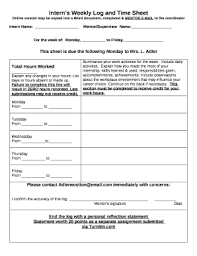 Time Sheet Doc Interns Weekly Log And Time Sheet Doc Template Pdffiller