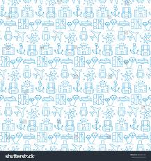 Seamless Pattern With Colored Paper Planes Stock Vector Image L L L L L