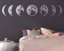 moon phases wall decal moon phase decor