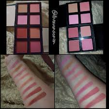 so here are pictures of the palettes and swatches without flash left and with flash right the top quad is the light palette as are the first 4 swatches