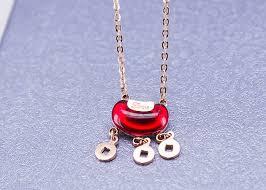 china vine las snless steel jewellery with red gemstone longevity lock supplier