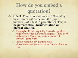 Ppt Embedding Quotations And Parenthetical Documentation