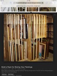painters storage shelf ideas wake lookbook shelf painting storage rack system art painting storage racks