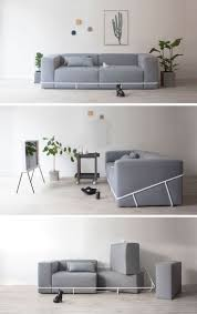 furniture simple design. a simple metal frame contains the six cushions that make up this sofa furniture design c