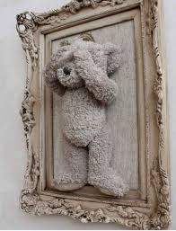 old diy cheap teddy bear picture frame from walmart only 15 00 on vintage teddy bear wall art with old diy cheap teddy bear picture frame from walmart only 15 00