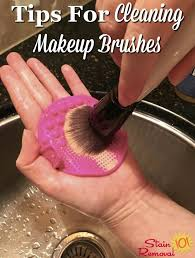tips for cleaning makeup brushes in your home including how often and the steps necessary