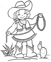 Small Picture Printable Cowgirl Coloring Pages for Girls Enjoy Coloring