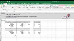 Vat Calculation Formula In Excel Download Calculate Vat In Excel