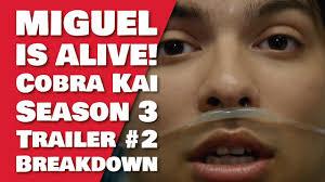 Cobra Kai Season 3 Trailer #2 | MIGUEL ALIVE ROBBIE IN JAIL | Cobra Kai  Season 3 Release Date - YouTube