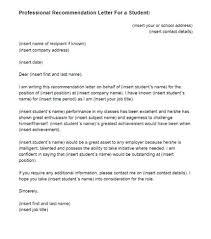 Student Recommendation Letter For Professor Familycourt Us