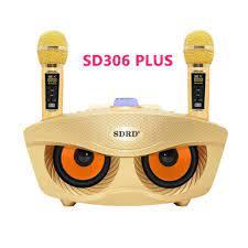 Loa Bluetooth Karaoke SDRD SD306 Plus bản 2020 đa năng, Loa kèm 2 micro hát  karaoke Không dây- Phiên Bản Nâng Cấp lọc