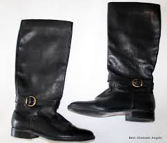 details about naturalizer tall black leather english equestrian riding boots womens 8 5 178