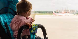 flying with strollers and car seats