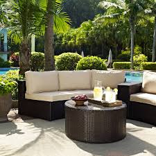 top 74 prime catalina outdoor wicker round sectional sofa with coffee table by crosley patio furniture