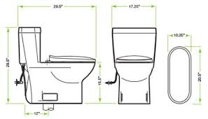 elongated bowl toilet dimensions. image description elongated bowl toilet dimensions