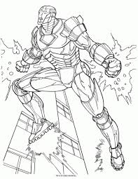 Small Picture Iron Man Flying Above The City Coloring Page Superheroes
