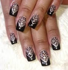 Nail Designs : Black French Tip Nail Art Simple Black Tip Nail ...