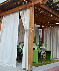 Paint Drop Cloth Curtains Drop Cloth Outdoor Curtain Tutorial Super Easy And Looks Fabulous