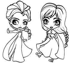 Small Picture Frozen Anna and Elsa Coloring Pages Frozen Anna and Elsa Frozen
