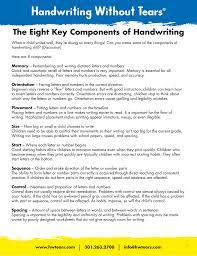 Handwriting Progression Chart The Eight Key Components Of Handwriting