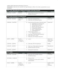 Sample Training Agenda Cool Writing A Training Plan Template Developing Program Sample Schedule