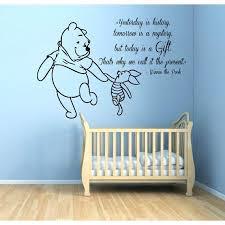 winnie the pooh nursery decor the pooh es children kids art mural girl boy nursery room