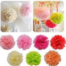 Paper Flower Garland Us 0 99 21 Off 5pcs 10 25cm Tissue Paper Pom Pom Ball Hanging Paper Flower Garland Diy Baby Shower Wedding Party Decoration Craft Diy Supplies In