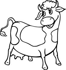 Coloriage Vache Et Dessin Imprimer