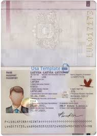 Us Passport Template Psd Latvia Passport Template Psd