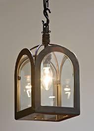 langsett 1 light wrought iron lantern in natural black