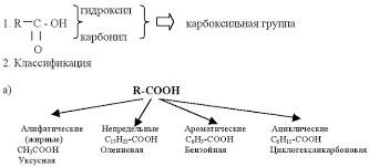 Использование модульной технологии при изучении углубленного курса  Часть i Состав классификация строение физические свойства карбоновых кислот