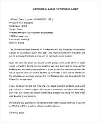 sle lease termination letters in pdf