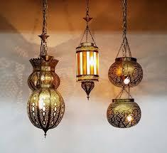 moroccan outdoor lighting. Moroccan Brass Lantern, Hanging Arabian Nights Lights, Outdoor Lighting