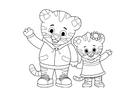 Daniel Tiger Coloring Pages Halloween Color Colouring Free Printable
