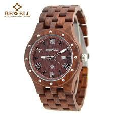 online buy whole watch brands men from watch brands men 2016 bewell wooden watch men wood auto date wristwatch men s quartz watch top brand luxury watches