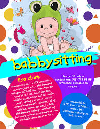 Babysitting Flyer Template Microsoft Word Free Babysitting Flyer Template Postermywall
