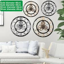 steampunk wall clock sticker decor