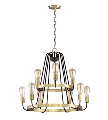 maxim 11737oiab haven 9 light 27 inch oil rubbed bronze and antique brass multi tier chandelier ceiling light