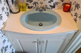 how to transform and old vanity top with concrete for a budget bathroom makeover