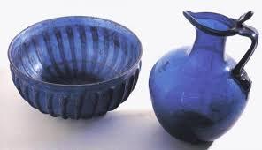 blue glass from pompeii