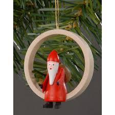 Christbaumschmuck Weihnachtsmann Im Holzring