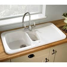 White Sinks For Kitchen How To Clean White Kitchen Sink Sink Ideas