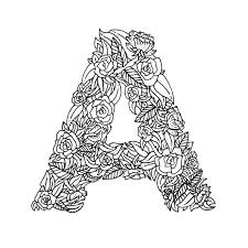 Search through 52013 colorings, dot to dots, tutorials and silhouettes. 26 Alphabet Coloring Pages Illustrated With Flowers Digital Download Boelter Design Co