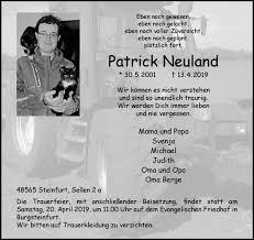 Gedenkseite Von Patrick Neuland Wwwtrauerms