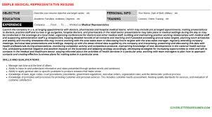sample medical representative resume template sample medical representative cover letter