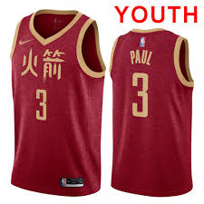 Red Houston 2019 City Youth Jersey Stitched Rockets Chris Paul dfbbeeda|The Mindless Freaks